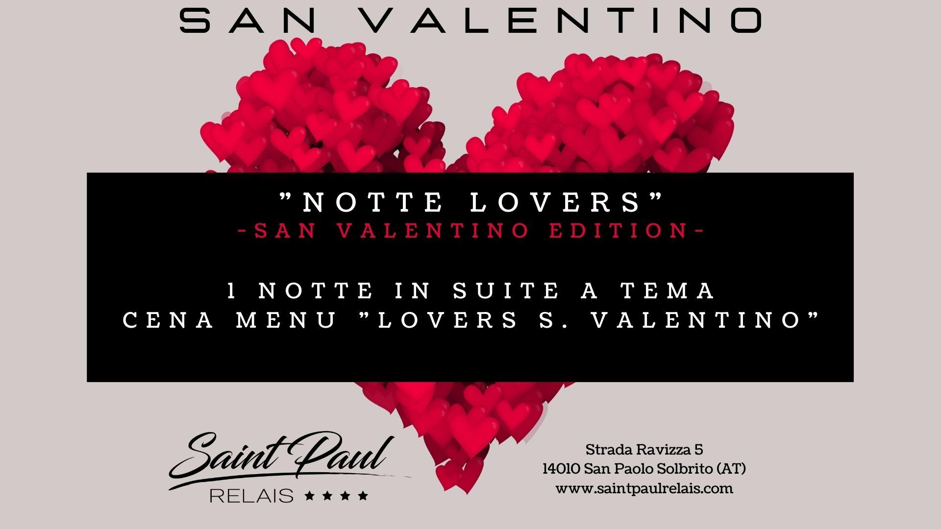 1 notte lovers San Valentino Saint Paul Relais
