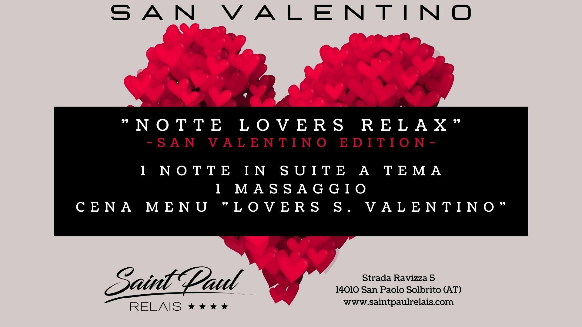 1 notte lovers relax San Valentino Saint Paul Relais